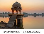 gadisar lake of gadisar lake in ... | Shutterstock . vector #1452670232