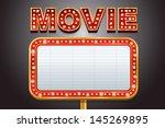 movie marquee | Shutterstock .eps vector #145269895