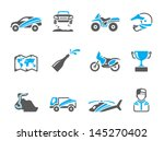rally related icons in duo tone ... | Shutterstock .eps vector #145270402