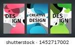 set of template design of... | Shutterstock .eps vector #1452717002