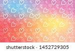 love card vector. illustration... | Shutterstock .eps vector #1452729305
