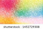 love card vector. illustration... | Shutterstock .eps vector #1452729308