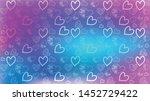 love card vector. illustration... | Shutterstock .eps vector #1452729422