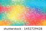 love card vector. illustration... | Shutterstock .eps vector #1452729428