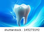 digital illustration of teeth... | Shutterstock . vector #145273192