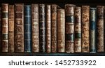 Old Books On Wooden Shelf....