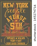 new york city vector art | Shutterstock .eps vector #145274716