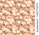 vector seamless pattern. pretty ... | Shutterstock .eps vector #1452752072