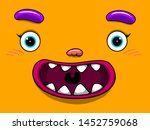 cute monster face icon... | Shutterstock .eps vector #1452759068