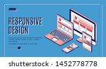 responsive design web banner ... | Shutterstock .eps vector #1452778778