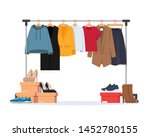 clothes hanger with different... | Shutterstock .eps vector #1452780155