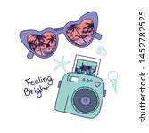 summer symbol t shirt design... | Shutterstock .eps vector #1452782525