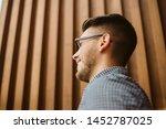 a close up portrait of a...   Shutterstock . vector #1452787025