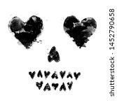 heart shaped skull face... | Shutterstock .eps vector #1452790658