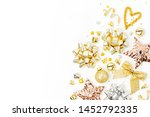 christmas decorations  bows ... | Shutterstock . vector #1452792335