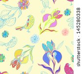 vintage floral seamless pattern ... | Shutterstock .eps vector #145280338