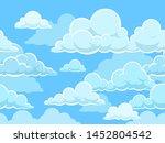 cartoon seamless clouds... | Shutterstock .eps vector #1452804542