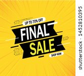 special offer final sale banner ... | Shutterstock .eps vector #1452810395