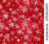 christmas seamless pattern of... | Shutterstock .eps vector #1452810605