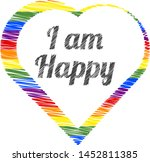 colorful heart with black... | Shutterstock .eps vector #1452811385