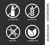 set of icons  gluten free ... | Shutterstock .eps vector #1452840698