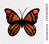 brown butterfly icon. cartoon... | Shutterstock .eps vector #1452850055