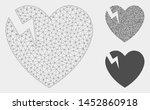 mesh heart crack model with... | Shutterstock .eps vector #1452860918