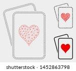 mesh hearts gambling cards... | Shutterstock .eps vector #1452863798