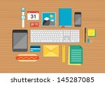 vector illustration set of... | Shutterstock .eps vector #145287085