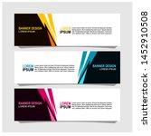 vector abstract design banner... | Shutterstock .eps vector #1452910508