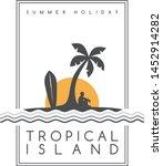 beach party vacation summer... | Shutterstock .eps vector #1452914282