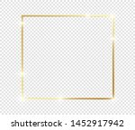 gold shiny glowing frame with... | Shutterstock .eps vector #1452917942