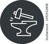 anvil forge hammer outline icon | Shutterstock .eps vector #1452922808