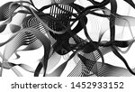 black and white curve wave line ... | Shutterstock . vector #1452933152