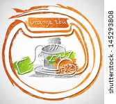 vector illustration of cup of... | Shutterstock .eps vector #145293808