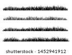 set of black grass silhouettes... | Shutterstock .eps vector #1452941912