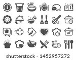 cooking icons. boiling time ... | Shutterstock .eps vector #1452957272