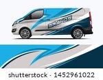van wrap design. wrap  sticker... | Shutterstock .eps vector #1452961022