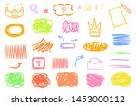 colored hatching shapes with... | Shutterstock .eps vector #1453000112