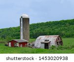 Decaying Farm Shed And Silo ...