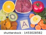 vintage photo  food containing... | Shutterstock . vector #1453028582