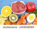 chicken liver with fruits and... | Shutterstock . vector #1453028585
