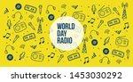 world radio day pattern artwork   Shutterstock .eps vector #1453030292