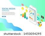 social media services web...   Shutterstock . vector #1453054295