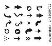 black color arrow logo symbol... | Shutterstock .eps vector #1453059722