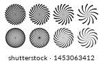 hypnotic spiral vortex vector... | Shutterstock .eps vector #1453063412