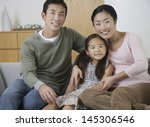 portrait of a young couple with ... | Shutterstock . vector #145306546