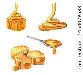 watercolor drawing caramel... | Shutterstock . vector #1453079588