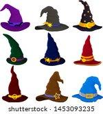 Set Of Wizard Hats. Vector...