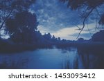 the time before sunrise magical ... | Shutterstock . vector #1453093412